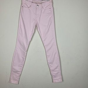 Zara- Medium Rise Slim Fit Pink Pants size 2